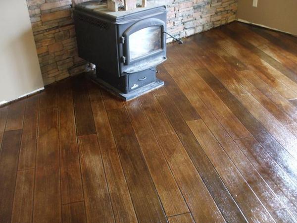 Stamped Concrete Wood Floor