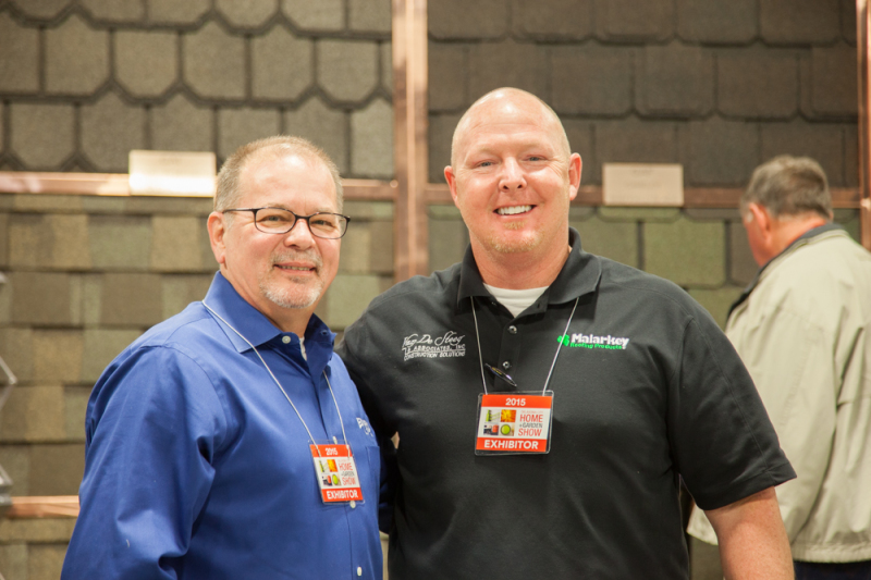 Edmond Glass Manager Chuck Norred and Account Executive Greg Wells