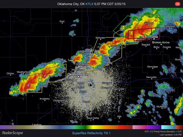 Hail Storm Oklahoma Radar March 25, 2015