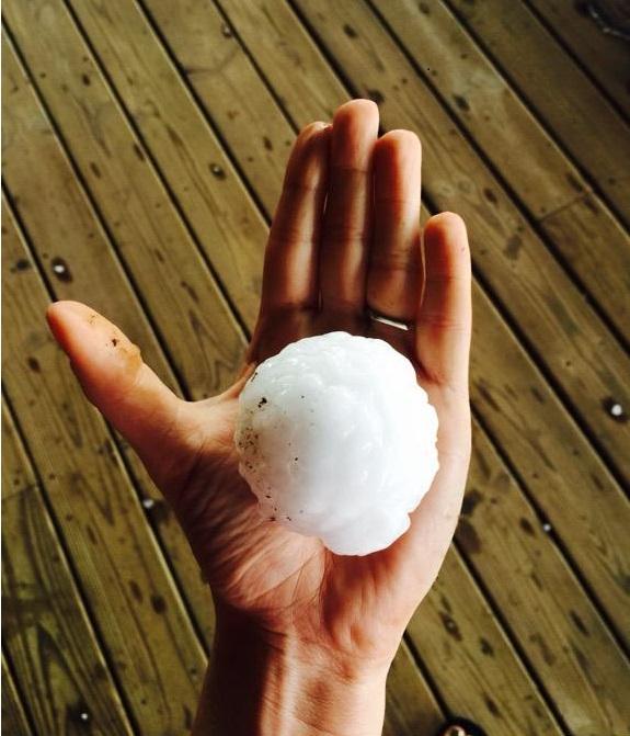 Hail near Stillwater OK